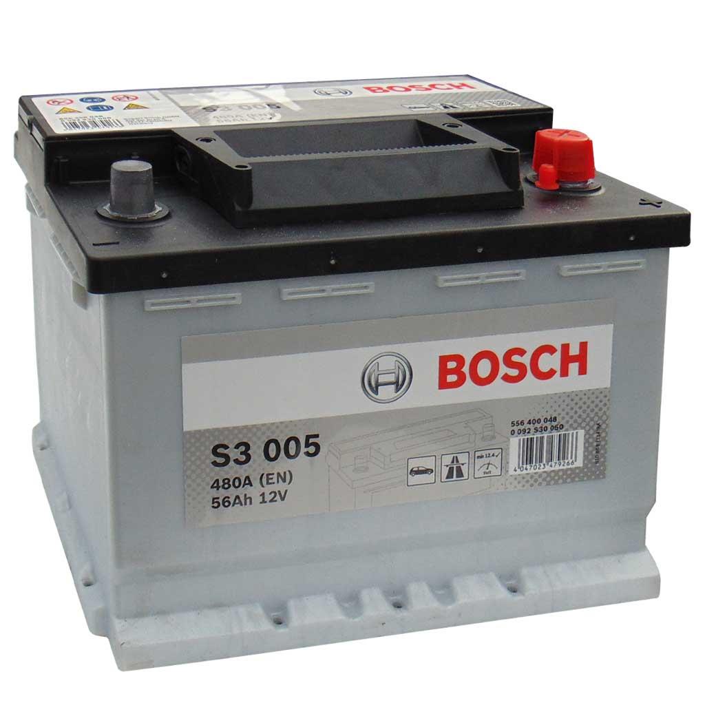 Bosch S3 akkumulátor, 12V 56Ah 480A EU J+, 0092S30050, magas
