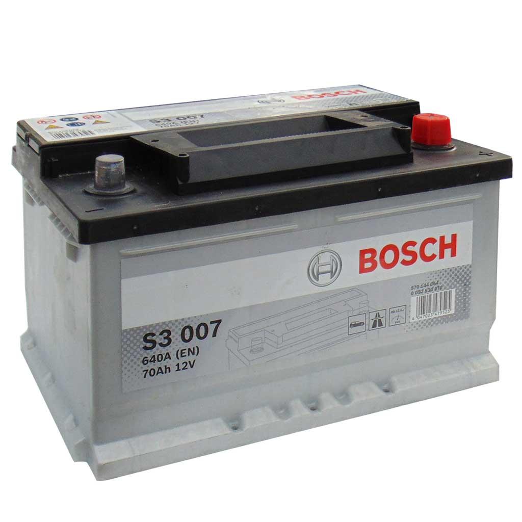 Bosch S3 akkumulátor, 12V 70Ah 640A EU J+, 0092S30070 alacsony