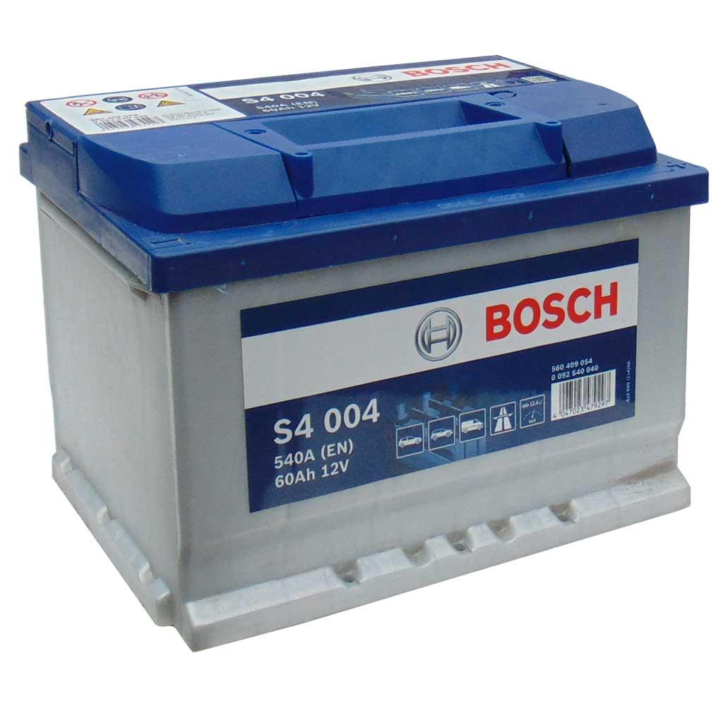Bosch Silver S4 akkumulátor, 12V 60Ah 540A EU J+, 0092S40040 alacsony