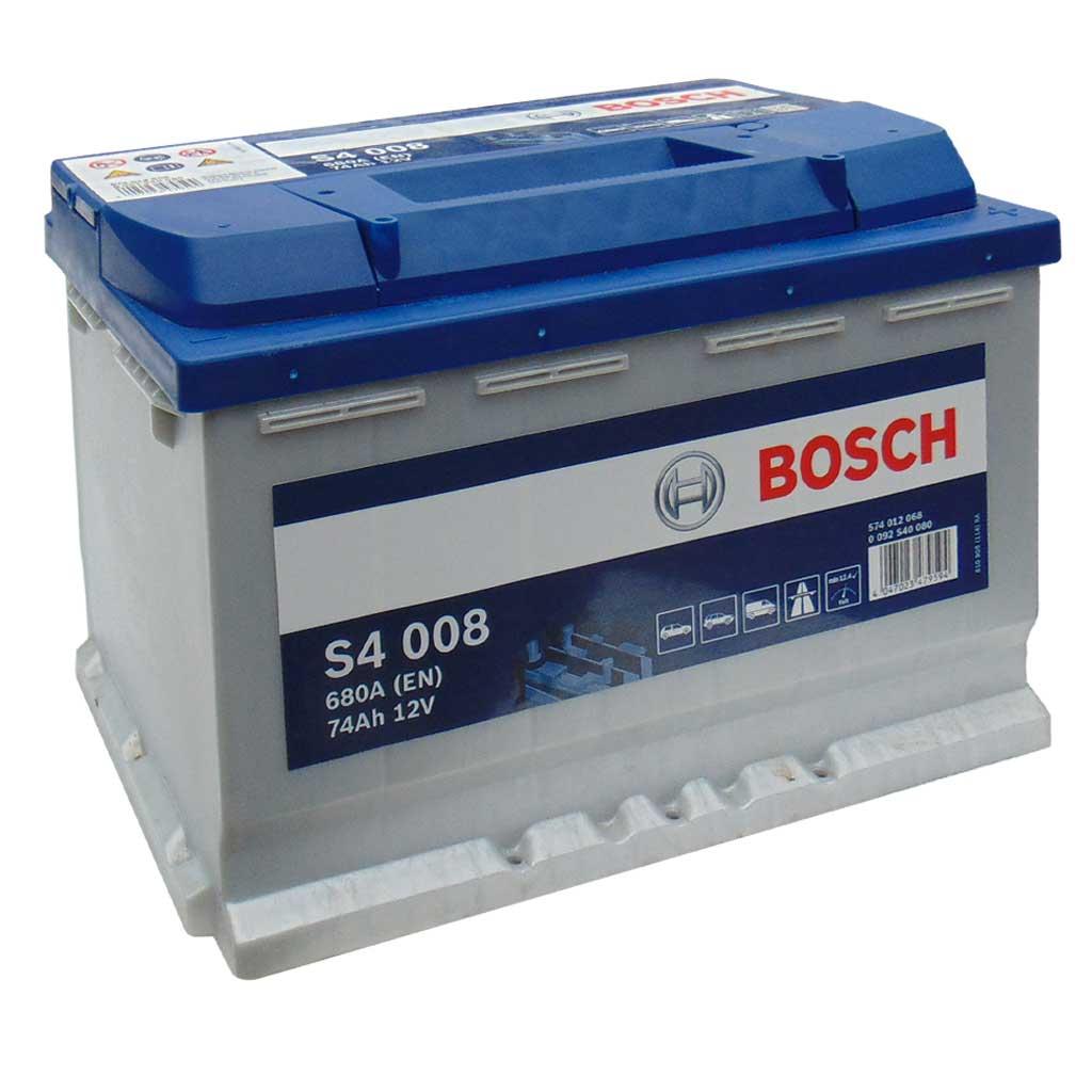 Bosch Silver S4 akkumulátor, 12V 74Ah 680A, EU J+, 0092S40080 magas