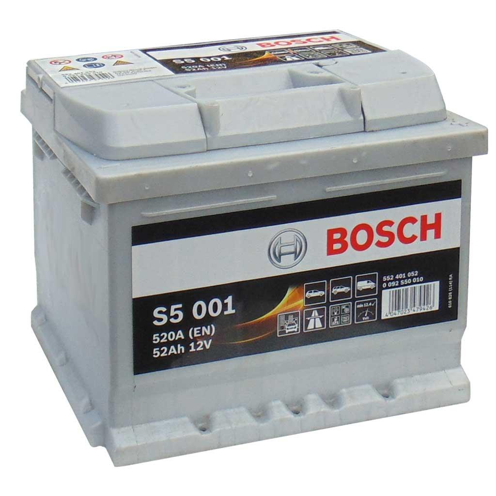 Bosch S5 Silver Plus akkumulátor, 12V 52Ah 520A EU J+, 0092S50010, alacsony