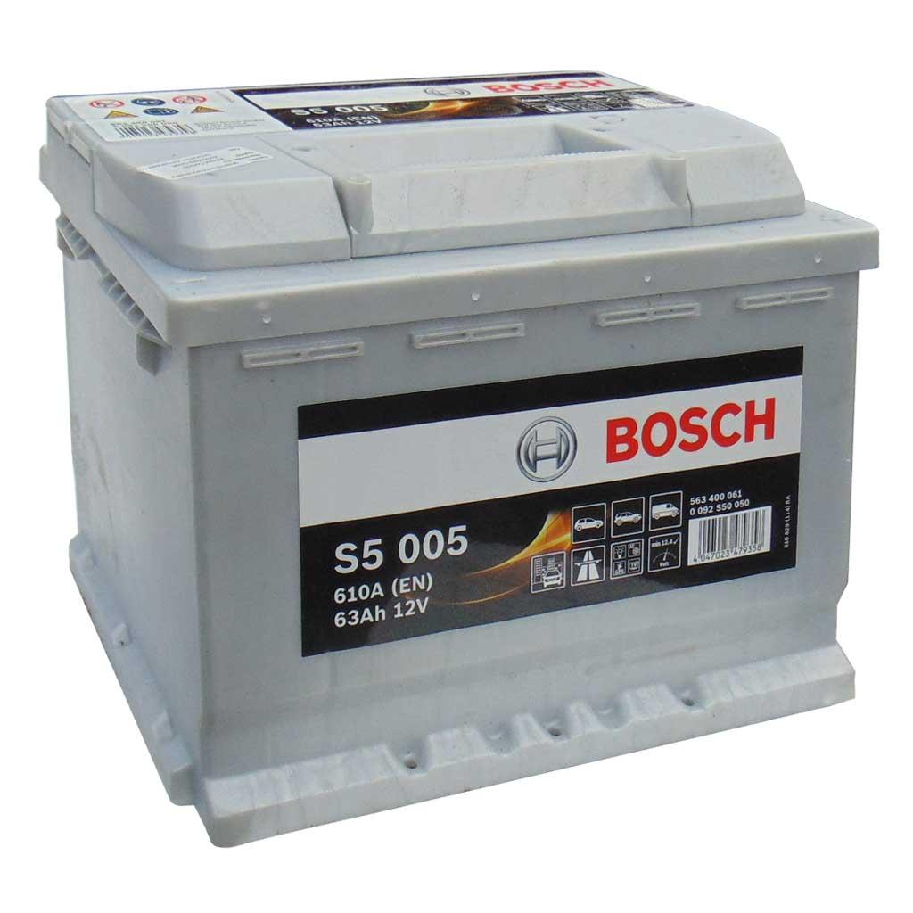 Bosch S5 Silver Plus akkumulátor, 12V 63Ah 610A EU J+, 0092S50050, magas