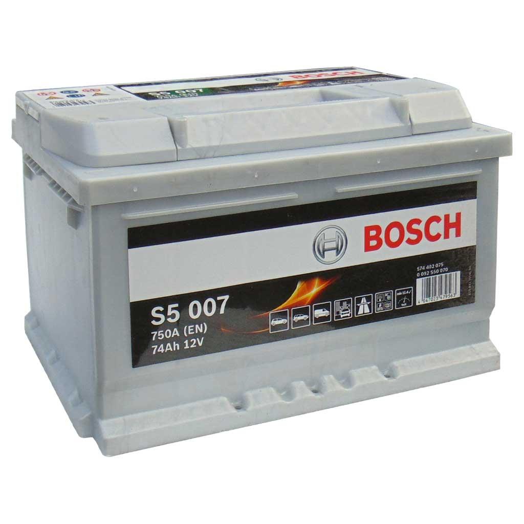 Bosch S5 Silver Plus akku, 12V 74Ah 750A EU J+, 0092S50070 alacsony