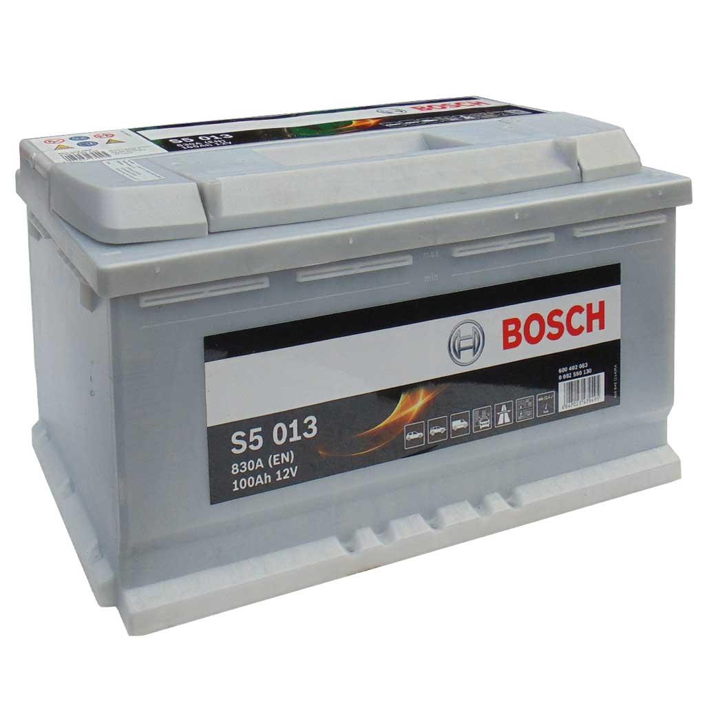 Bosch S5 Silver Plus akkumulátor, 12V 100Ah 830A EU J+, 0092S50130, magas