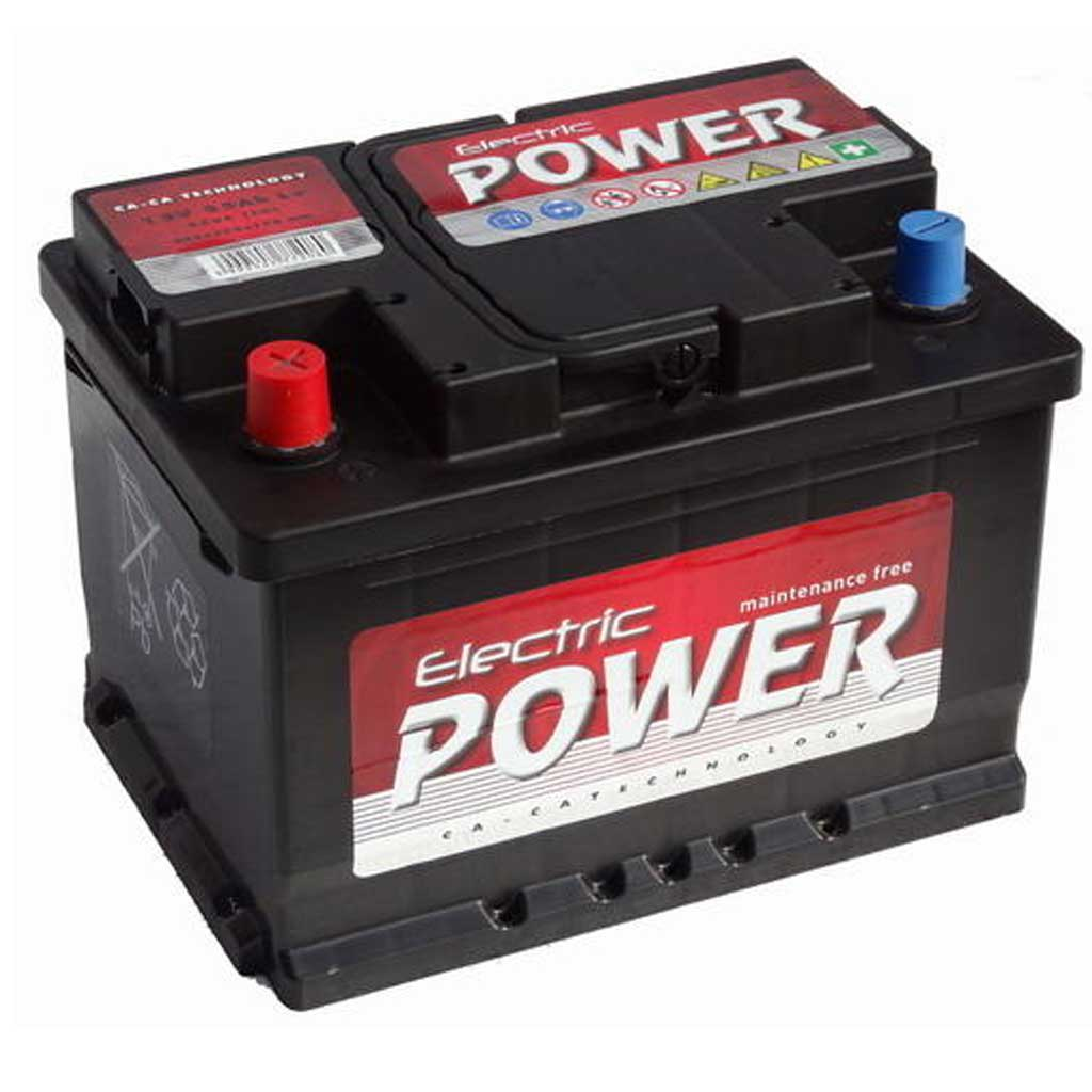 Electric Power akkumulátor, 12V 55Ah 450A B+ EU, gázrekombinációs, alacsony