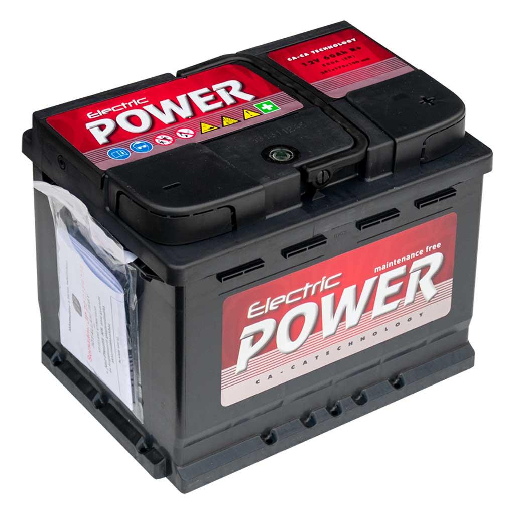 Electric Power akkumulátor, 12V 60Ah 500A J+ EU, gázrekombinációs, alacsony