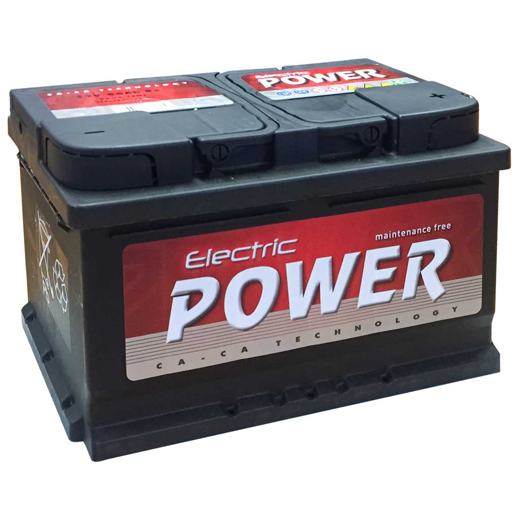 Electric Power akkumulátor, 12V 66Ah 540A J+ EU, alacsony