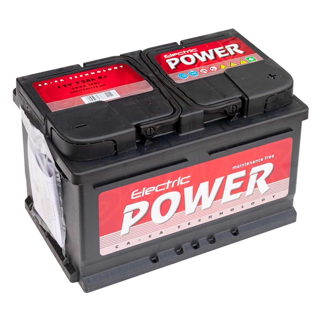 Electric Power akkumulátor, 12V 72Ah 680A J+ EU, gázrekombinációs, alacsony
