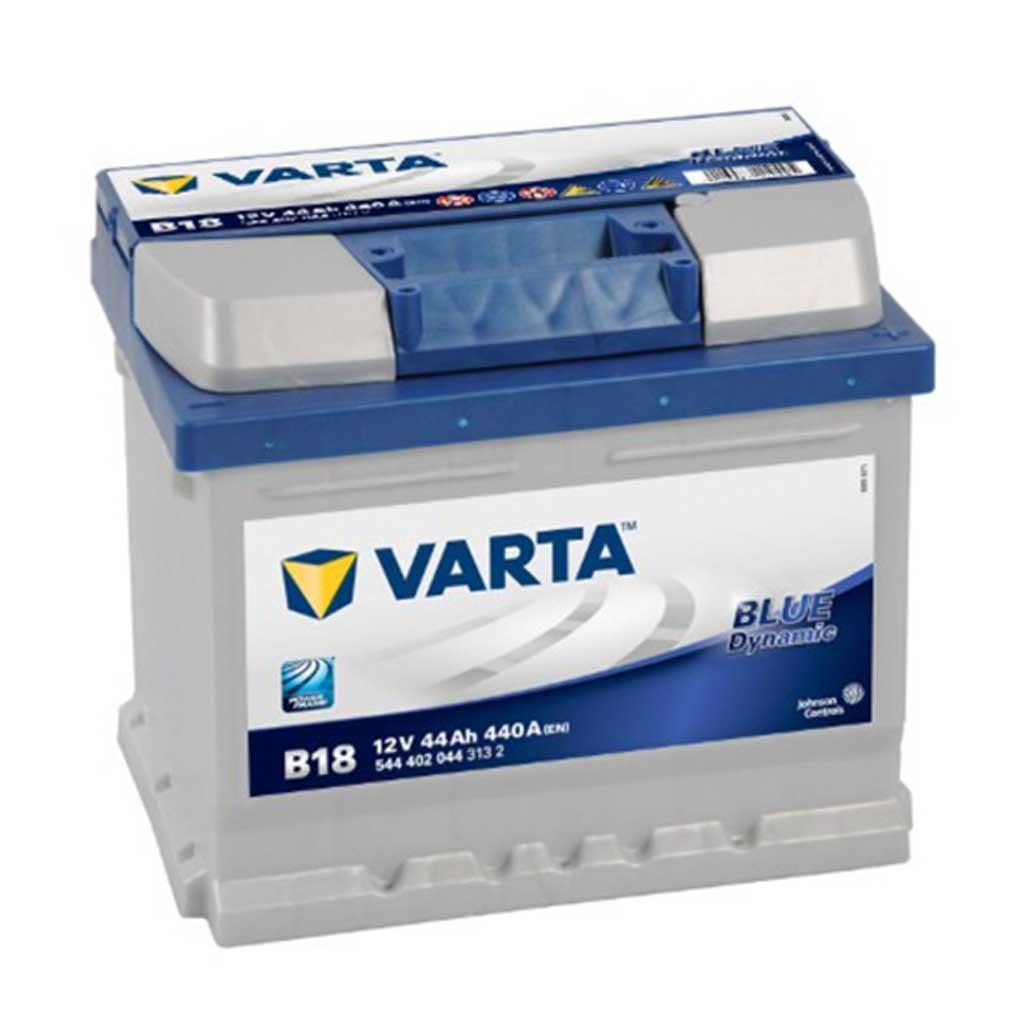 Varta Blue Dynamic B18 akkumulátor, 12V 44Ah 440A J+ EU, alacsony