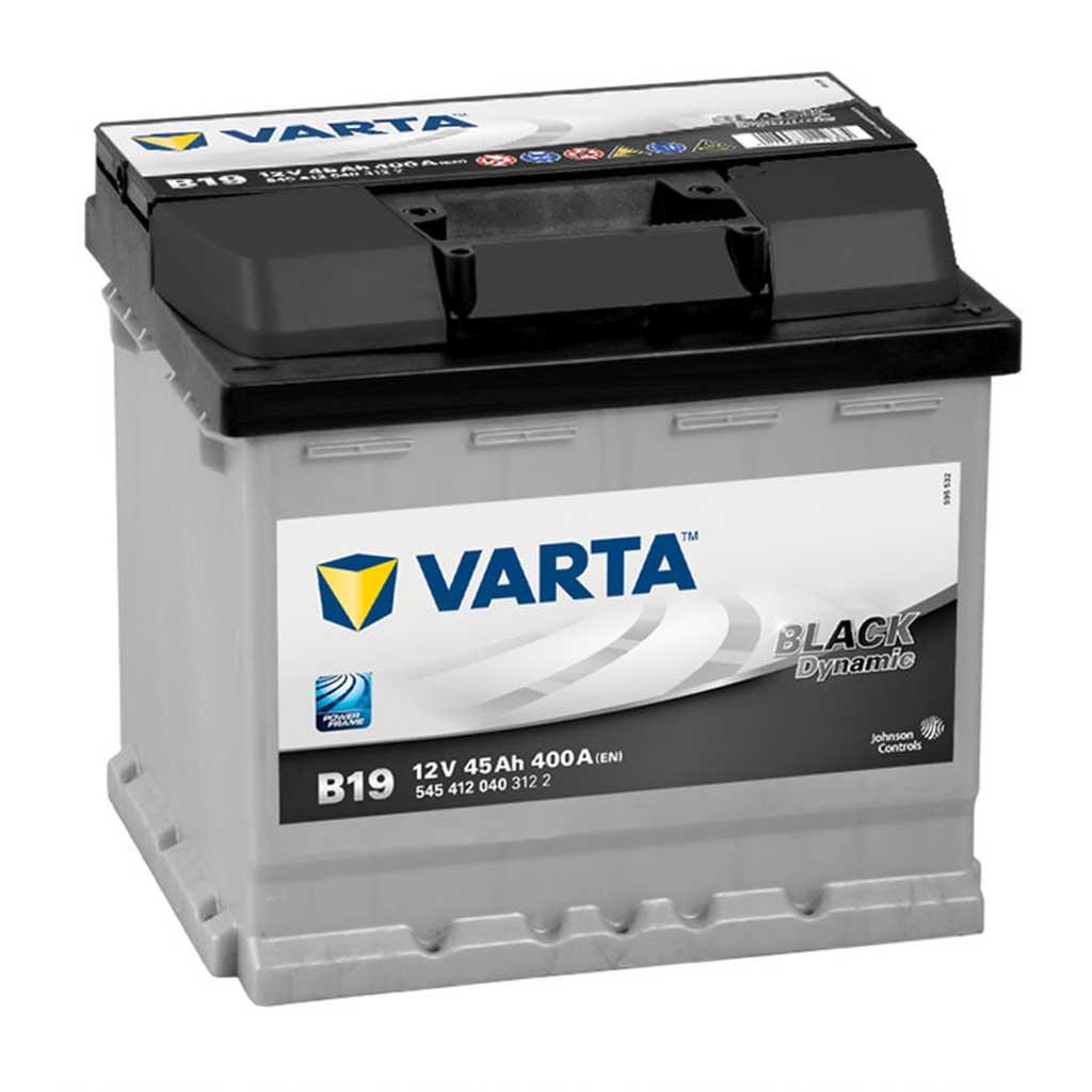 Varta Black Dynamic B19 akkumulátor, 12V 45Ah 400A J+ EU, magas