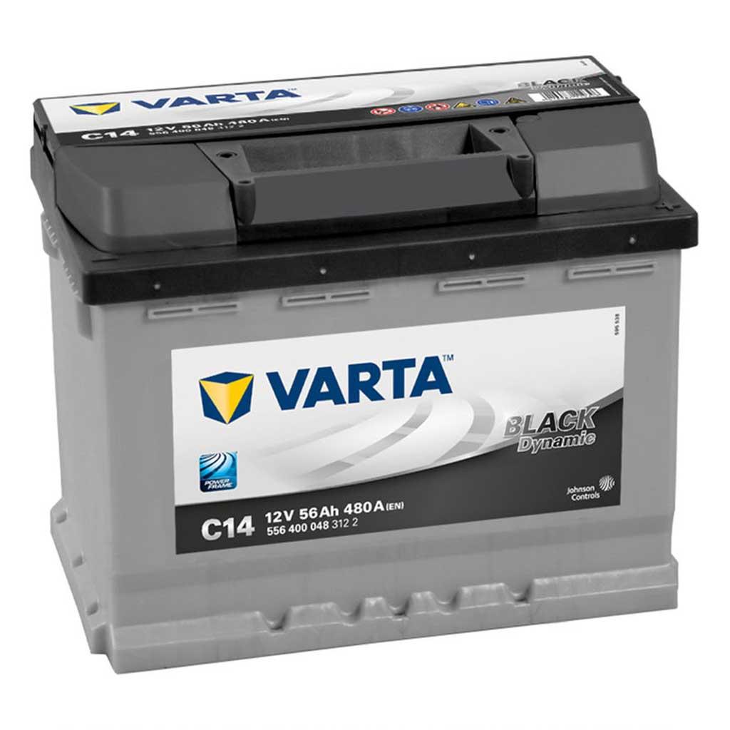 Varta Black Dynamic C14 akkumulátor, 12V 56Ah 480A J+ EU