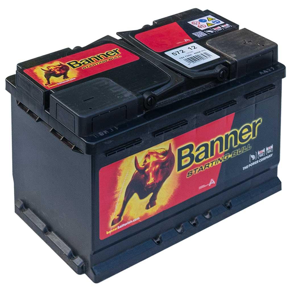 Banner Starting Bull akkumulátor, 12V 72Ah 650A J+, EU magas