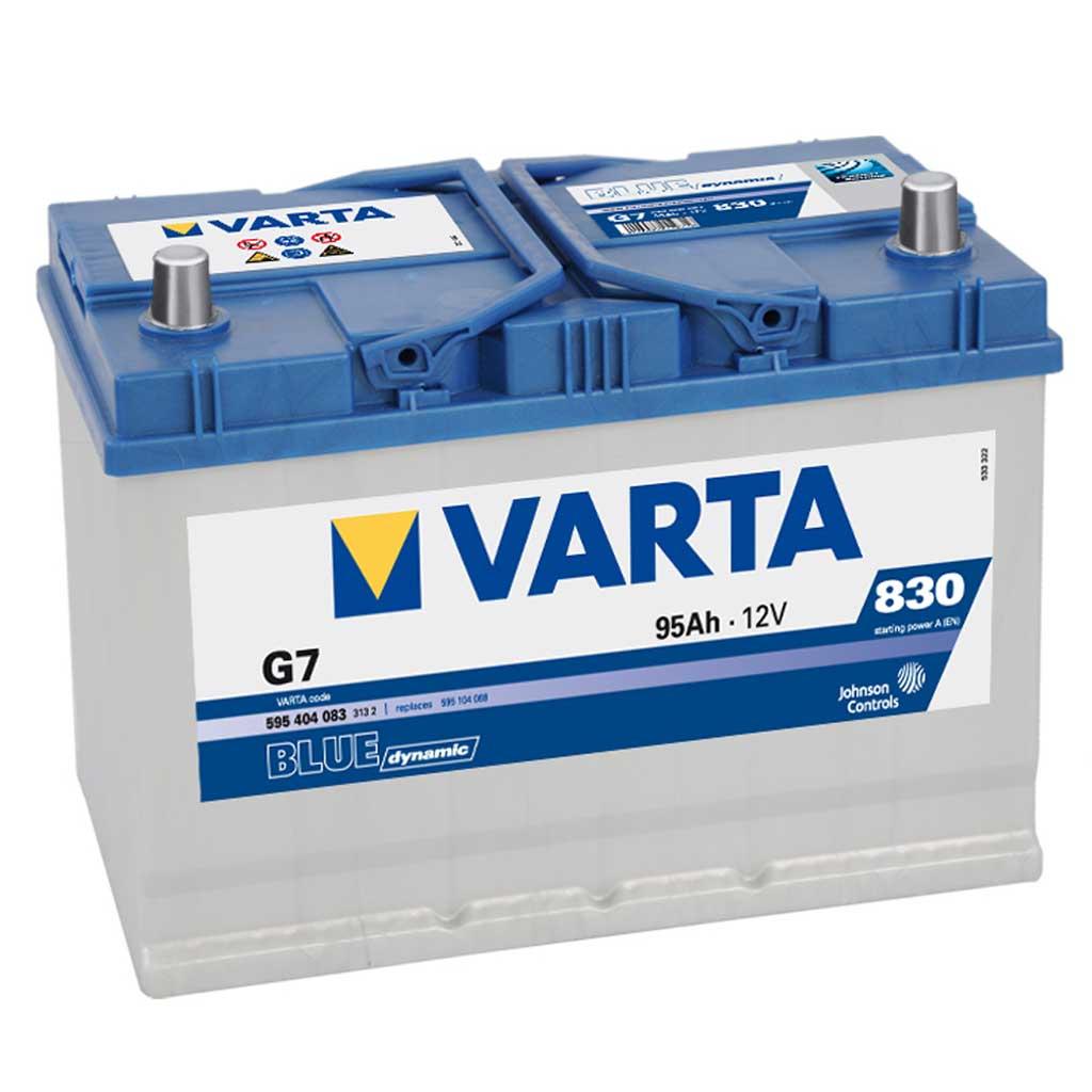 Varta Blue Dynamic G7 akkumulátor, 12V 95Ah 830A J+ japán