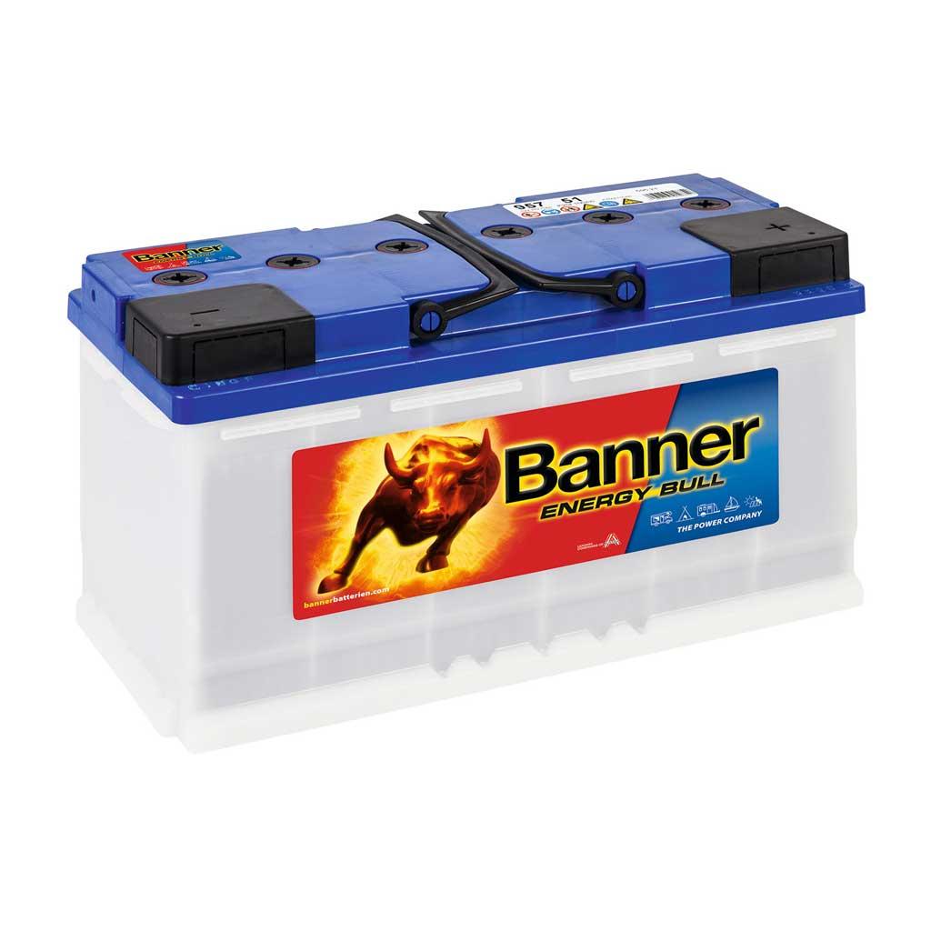 Banner 957 51 Energy Bull munkaakkumlátor 12V 100Ah jobb+