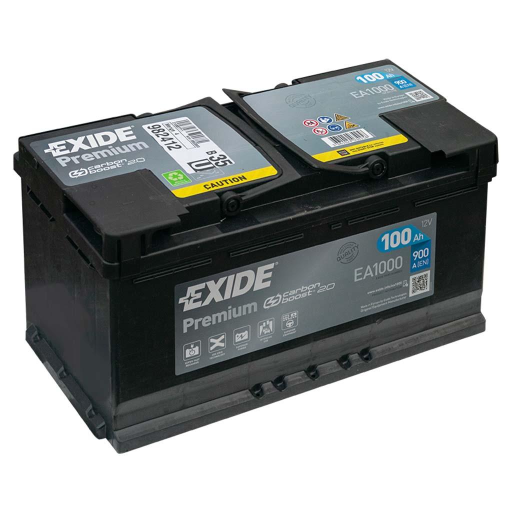 Exide Premium akkumulátor, 12V 100Ah 900A J+ EU, magas