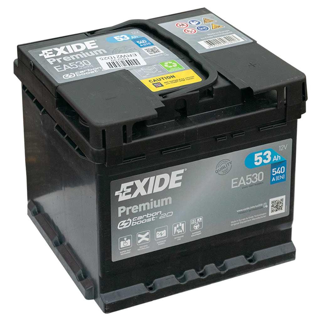 Exide Premium akkumulátor, 12V 53Ah 540A J+ EU, magas