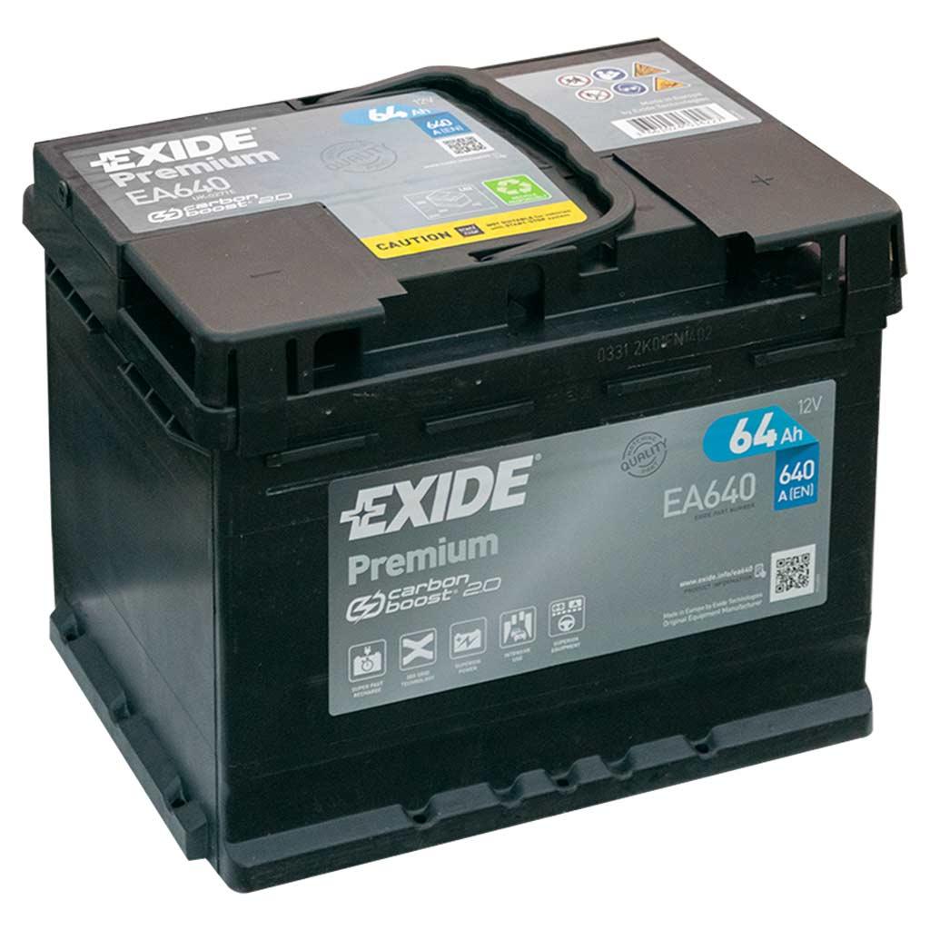 Exide Premium akkumulátor, 12V 64Ah 640A J+ EU, magas
