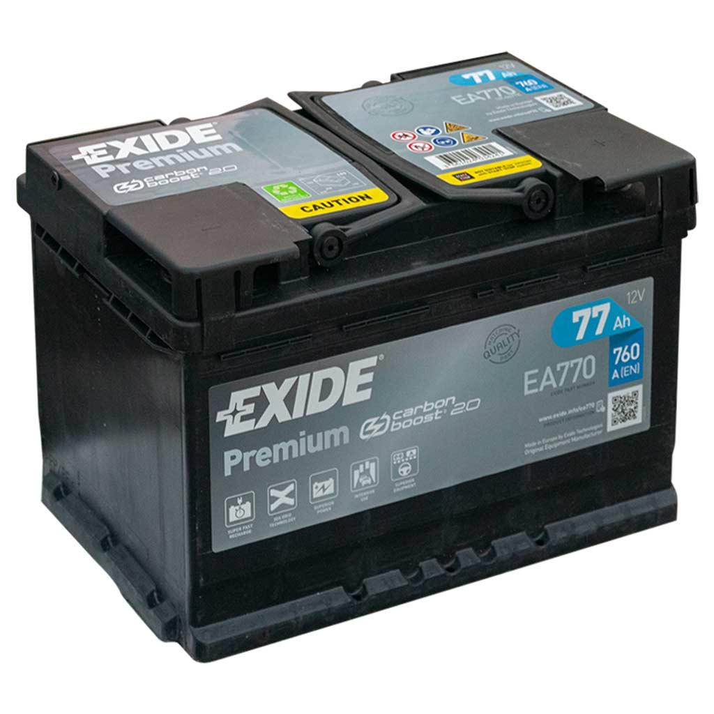 Exide Premium akkumulátor, 12V 77Ah 760A J+ EU, magas