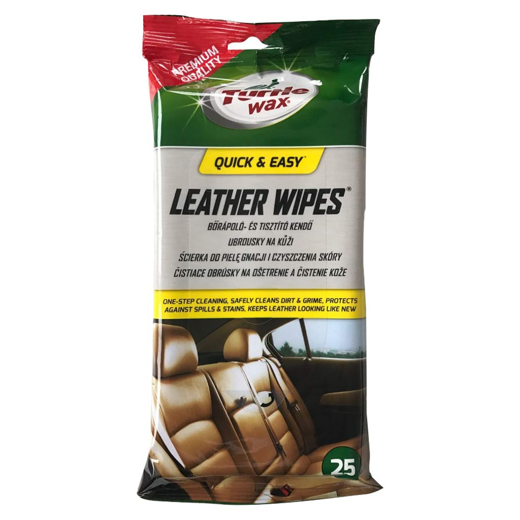 Turtle Wax Leather Wipes, bőrápoló kendő, 25db