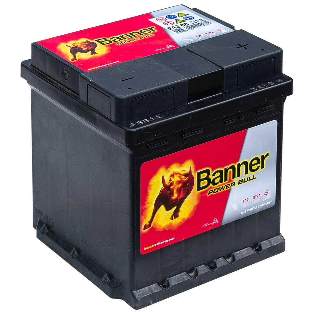 Banner Power Bull akkumulátor, 12V 42Ah 390A J+, EU Punto
