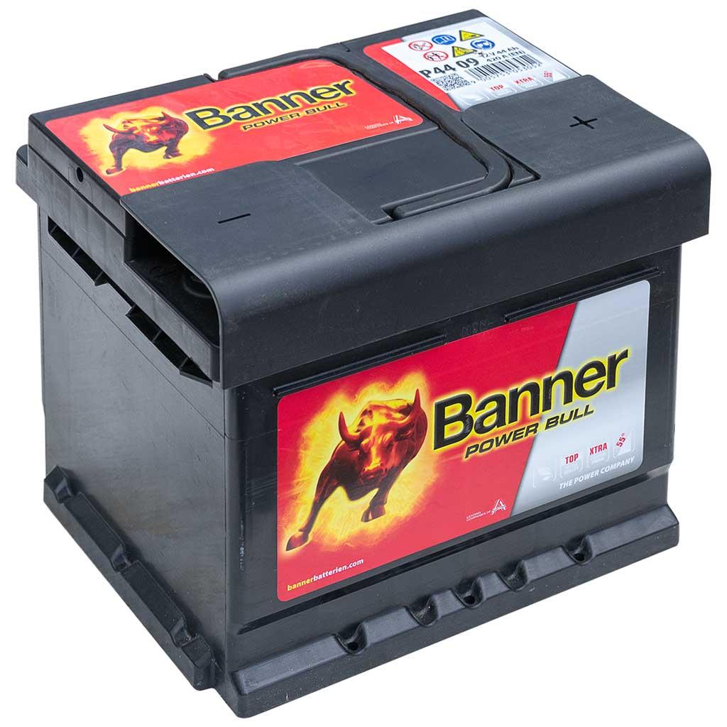 Banner Power Bull akkumulátor, 12V 44Ah 420A J+, EU, alacsony