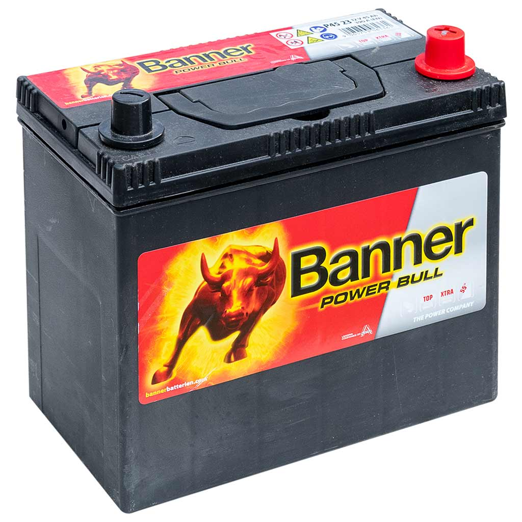 Banner Power Bull akkumulátor, 12V 45Ah 390A J+, Japán