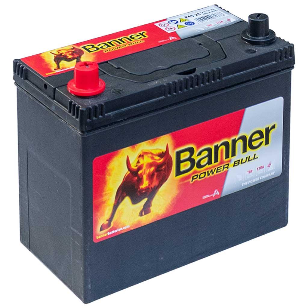Banner Power Bull akkumulátor, 12V 45Ah 390A B+, Japán
