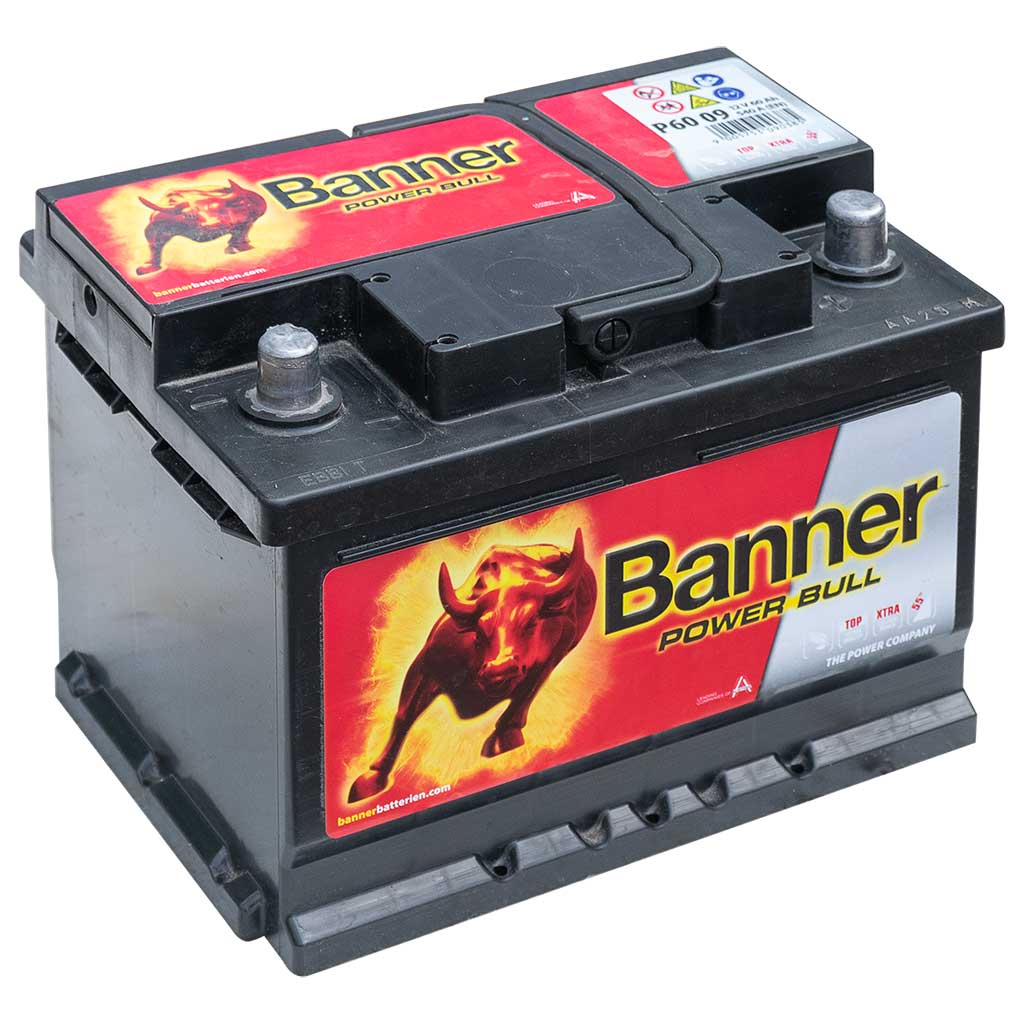 Banner Power Bull akkumulátor, 12V 60Ah 540A J+, EU, alacsony