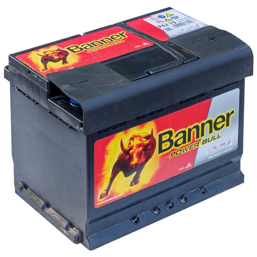 Banner Power Bull akkumulátor, 12V 62Ah 550A J+, EU, magas