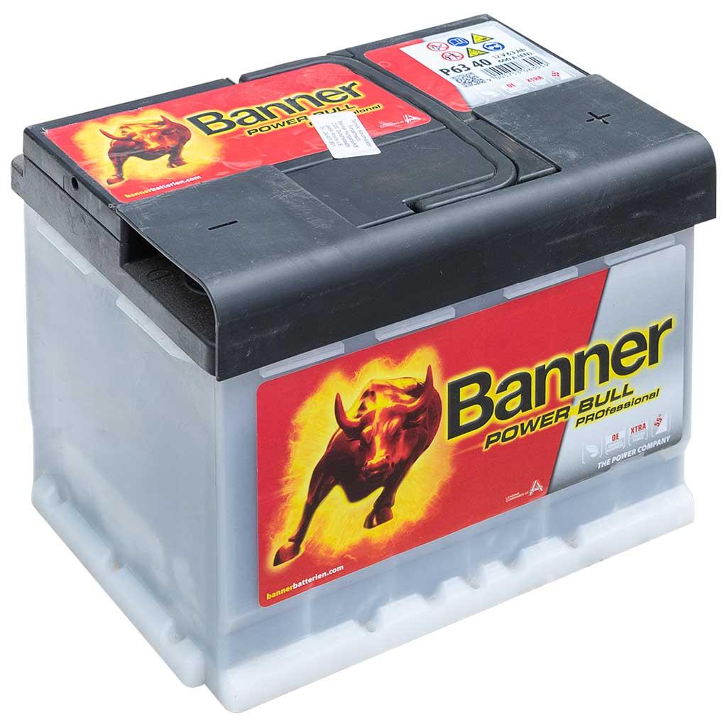 Banner Power Bull Professional 12V 63AH 600A J+ EU