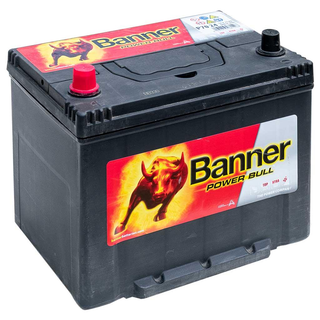 Banner Power Bull akkumulátor, 12V 70Ah 600A B+ japán