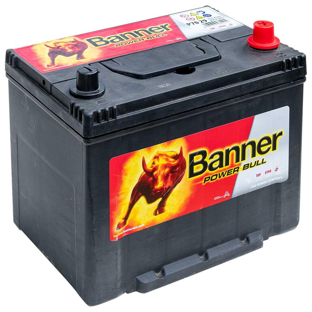 Banner Power Bull akkumulátor, 12V 70Ah 600A J+ japán