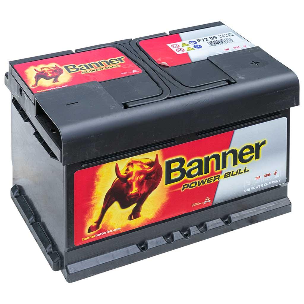 Banner Power Bull 12V 72AH 660A J+ EU