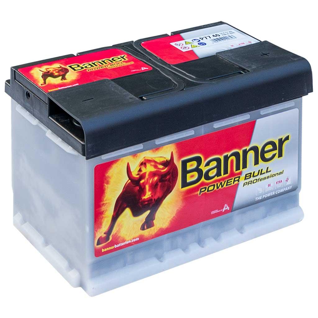 Banner  Power Bull Professional akkumulátor, 12V 77Ah 680A J+ EU magas