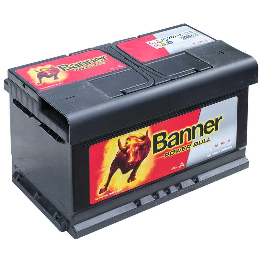 Banner Power Bull Akkumulátor 12V 80Ah 700A J+, EU, alacsony