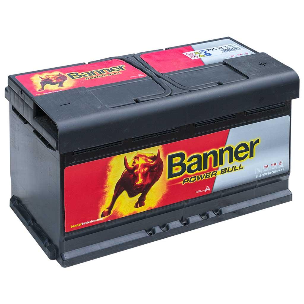 Banner Power Bull akkumulátor, 12V 95AH 780A J+, EU, magas