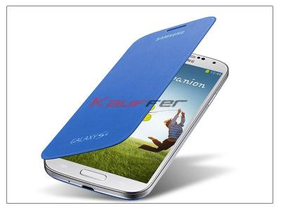 Samsung i9500 Galaxy S4 flipes hátlap - EF-FI950BCEGWW gyári - light blue