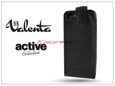 VALENTA ACTIVE FLIP bőrtok - Apple iPhone 5/5S - black