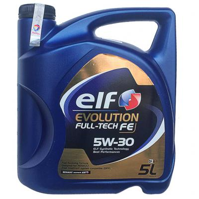 Elf Evolution Full-tech FE 5W-30 (5W30) motorolaj, 5lit